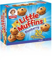 Little Debbie Little Muffins - Chocolate Chip, 20 Mini Muffins in 5 Pouches