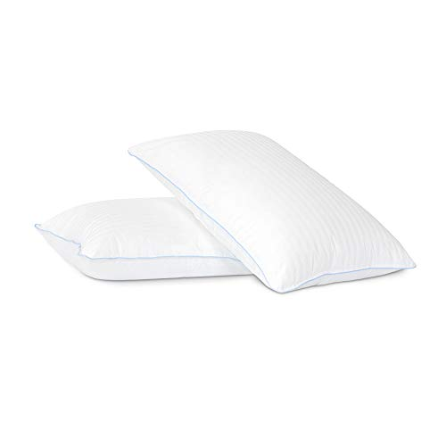 (Cardinal & Crest Premium Down Alternative Sleeping Pillows - Medium Density Loft for Back and Side Sleepers - 100% Cotton Casing - Pack of 2 Pillows Standard/Queen Size)