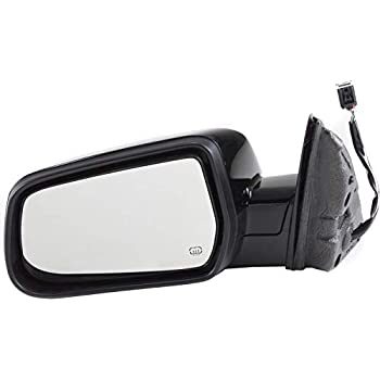 Power Mirror For 2010-2017 Chevrolet Equinox Left Manual Fold Heated Chrome