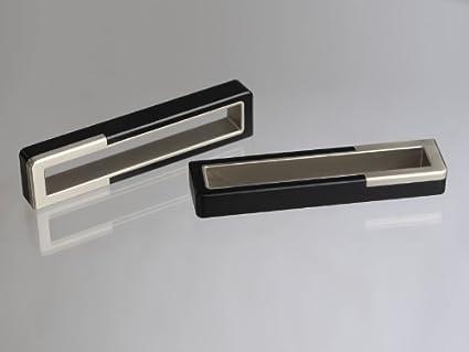 Maniglie Mobili Di Design.So Tech Maniglia Per Mobili Maniglie Per Mobili Maniglia Di Design Cubo Nero Acciaio Inox 160 Mm Amazon It Fai Da Te