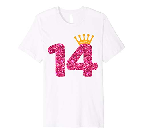 Happy Birthday Shirt, Girls 14th Party 14 Years Old Bday]()