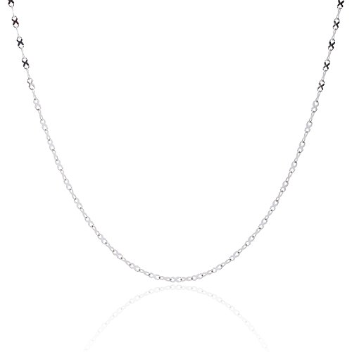 [316L Stainless Steel Infinity Ribbon Link Chain - 2MM - 20 Inch] (316 Steel Necklace)