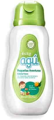 Esika Agú Pequeñas Aventuras Baby Fresh Cologne with Sparkling Orange Notes and Refreshing Aromatic Herbs, Parabens and Dyes Free 15.2 fl. oz. (450ml)
