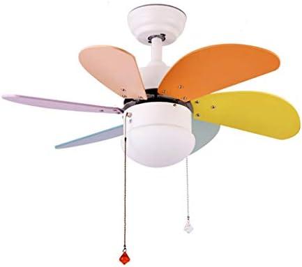 La luz de techo del ventilador, con, Balcón casero LED de color ...