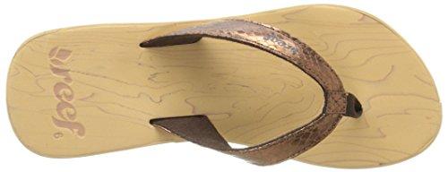 Reef Reefwood Ii, Sandalias con Plataforma para Mujer Marrón (Bronze / Snake)