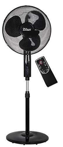 Standventilator-mit-Fernbedienung-41-cm-50-Watt-Oszillierend-Leiser-Betrieb-Ventilator-180-Rotation-Turmventilator-Luftkhler-Bodenventilator-Frontier-Black