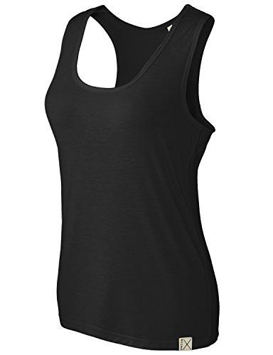 Basic Boat (REGNA X Basic women's boat neckline sleeveless fitted poplin t-shirt,16221_Black,Large)