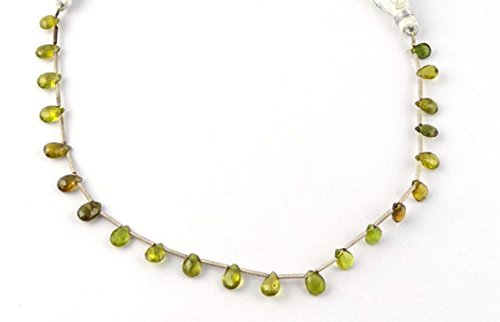 1 Strand Natural Chrysoberyl Gemstone Briolette Pear Drilled 4x5-5x7mm Beads Strands,jewelry Making Briolette Beads