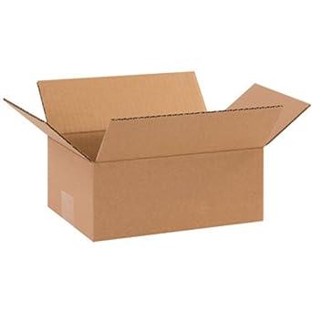 Aviditi 1074 - Caja de cartón corrugado (25 unidades, 25 x 18 x 10 cm), diseño de Kraft, para envío, embalaje y mudanza): Amazon.es: Amazon.es