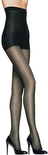 L'eggs Profiles Shaping Sheers -High Waist To Mid Thigh- Tummy Control Top Pantyhose 3-Pack, Black, Large (Top Control Pantyhose Waistband)