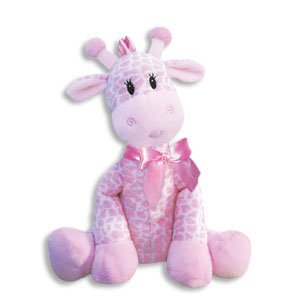 9 Inch Giraffe Rattle for Girl/Baby Rattle/Plush Rattle/Baby Shower Gift/Newborn Gift by First and Main (Original Version) ()