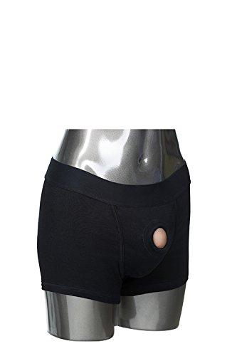 California Exotic Novelties Packer Gear Black Boxer Brief Harness X-Small/Small, Black