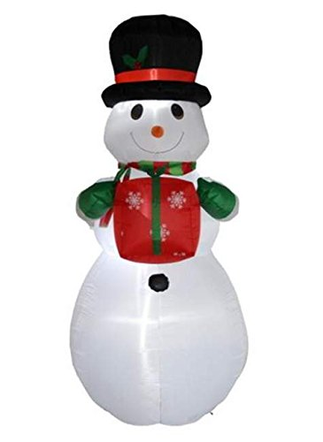 8 Ft Inflatable Snowman with Gift Box Indoor Outdoor Chri...