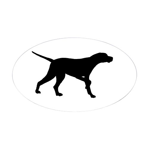 CafePress Pointer Dog On Point Oval Bumper Sticker, Euro Oval Car Decal