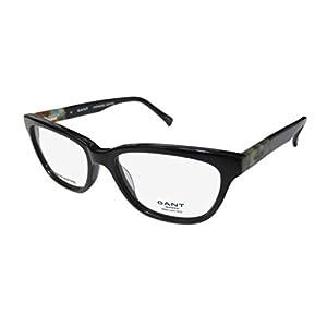Gant 4005 Womens/Ladies Cat Eye Full-rim Flexible Hinges Eyeglasses/Eyewear (51-16-140, Black / Multicolor)