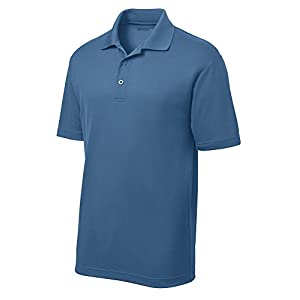 DRIEQUIP Moisture Wicking Mens Polo Cleaning Shirt - blue