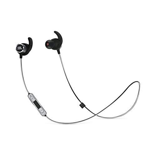 JBL Reflect Mini 2.0 – In-Ear Wireless Sport Headphone with 3-Button Mic/Remote – Black