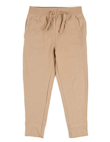Leveret Boys Pants Beige 8 Years (Tan Light Brown Pants Made Of Cotton)