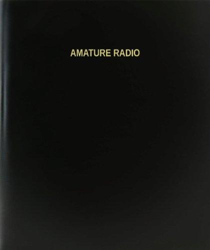 BookFactory® Amature Radio Log Book / Journal / Logbook - 120 Page, 8.5''x11'', Black Hardbound (XLog-120-7CS-A-L-Black(Amature Radio Log Book)) by BookFactory