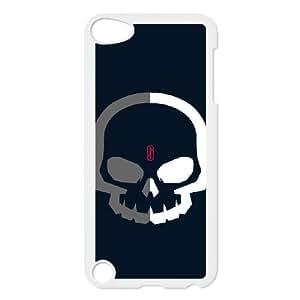 Skull_Grey and White iPod Touch 5 Case White Blpye