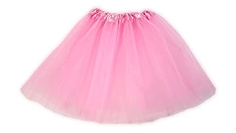 Tutu Ballet Party Dress Skirt for Girls and Toddlers - Ballerina or Princess Dress Up Pretend Play Costume (Light Pink)