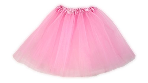 Tutu Ballet Party Dress Skirt For Girls and Toddlers - Ballerina or Princess Dress Up Pretend Play Costume (Light Pink) (Ballerina Princess Dress)