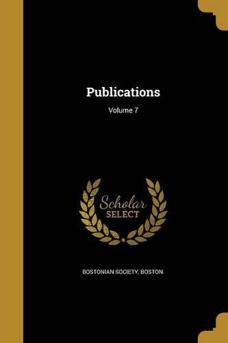 Download Publications; Volume 7 pdf
