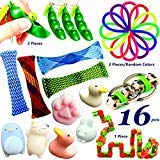 16pcs Fidget Toys for Sensory Kids, Sensory Toys for Autistic Children, Goodie Bag Fillers Stress Relief Toys Assortment & Squeeze Therapy Sensory Fidget Toys for Adults, ADHD Anxiety Autism
