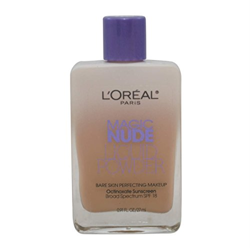 L oreal Paris Magic Nude Liquid Powder Bare Skin Perfecting Makeup SPF 18, Creamy Natural, 3 Pack