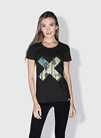 Creo La X City Love T-Shirts For Women - S, Black