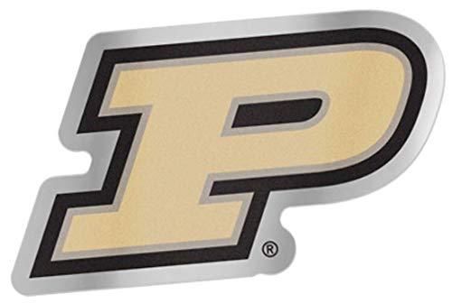 - NCAA Purdue University Auto Badge Decal, Hard Thin Plastic, 4.75x2.8 inches
