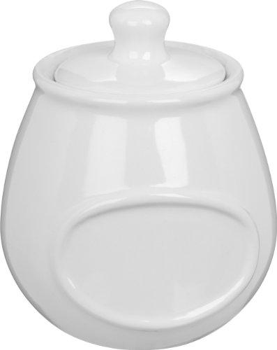 Trudeau Mini White Stoneware Spice Jar