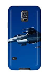 New Style 7753472K21295425 Defender Case With Nice Appearance (f 16c Fighting Falcon Firing Agm 88 Missile) For Galaxy S5