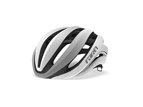 Giro Aether MIPS Cycling Helmet - Matte White/Silver Medium from Giro