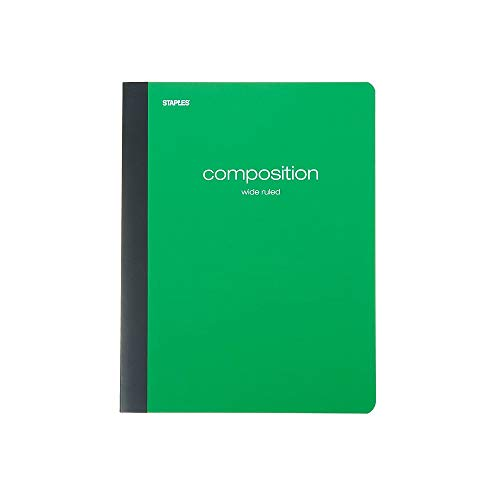 Staples® Poly Composition Notebook, Wide Ruled, - Assorted Rule