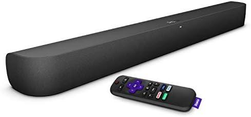 Roku Smart Soundbar, 4K/HD/HDR Streaming Media Player & Exceptional Audio Includes Roku Voice Remote