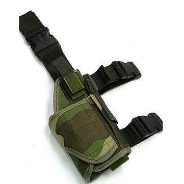 Waterproof Outdoor Hunting Military Tactical Puttee Thigh Leg Gun Holster Pouch - Men's Bags Clutch Bags - (Jungle) - 1X Bag