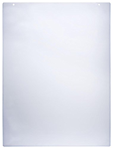 "Sign Holder Sleeve 24-1/2""w x 36-1/4""h Clear Plastic Poster Frame Accommodates 24""w x 36""h Images – Sold in Case Packs of 5 Units – Signage Display Cover Includes Double Sided Tape"