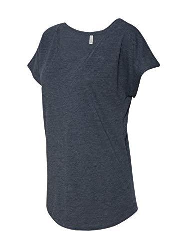 (Next Level Apparel Women's Tri-Blend Dolman Top, Vintage Navy,)