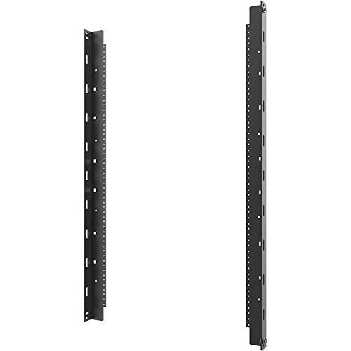 C2G Vertical Rail Kit for 26RU Swing-Out Wall-Mount Cabinet, Black (SWMRK26RU)