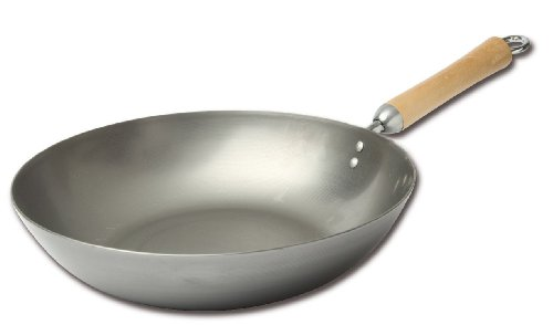 Classic Series Carbon Steel Stir Fry Pan, 12-Inch ()