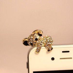 brandbuy Earphone Jack Accessory Gold Plated 1pcs Of Golden Koala Dust Plug Ear Jack For Audio Headphone / Iphone 4 4S / Samsung Galaxy S2 S3 Note I9220 / HTC / Sony / Nokia / Motorola / LG / Lenovo / iPad / iPod Touch / Other 3.5mm Ear Jack, Best Gadgets