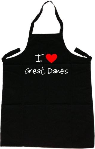 I Love Great Danes ApronBlack