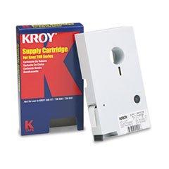 Kroy Model 2227501 Black on Clear 240 Tape, 1/2in. x (240 Tape)