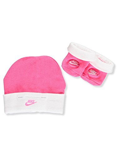 Hat Cap Booties - Nike Baby Girls' Infant Hat & Booties - pink/white, 0 - 6 months