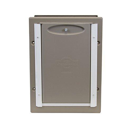 Wall Entry Door - PetSafe Wall Entry Aluminum PetDoor Medium - Up to 40 lb - PPA11-10916