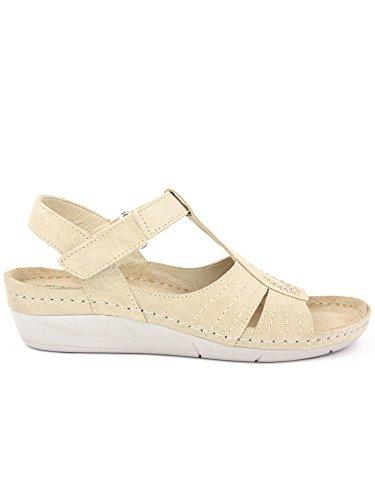GRUNLAND - Sandalias de vestir para mujer sabbia