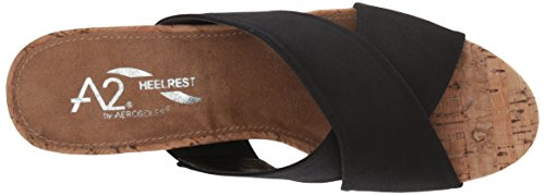 Aerosoles Women's Midday Slide Sandal, Parent, US Black Fabric