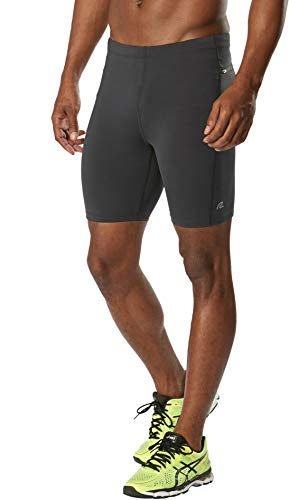 R-Gear Men's Recharge 7-inch Compression Shorts for Running, Workouts or Baselayer Tights, Charcoal, - Dri Reflective 7 Inch Short Fit