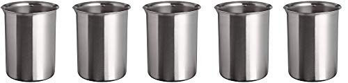 Polar Ware 1200B Stainless Steel Griffin Style Beaker, 1200 mL Capacity, 4-1/8'' OD x 6-1/16'' H (5-(Pack))